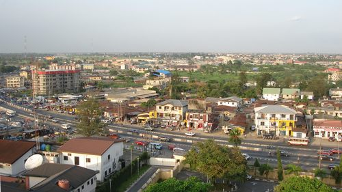 aba road as seen from hotel presidential